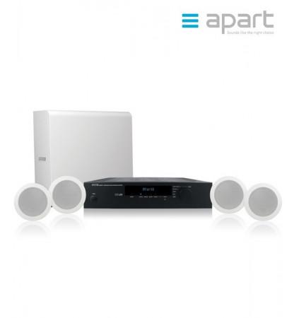 Zestaw nagłośnienowy APART AUDIO SHOPSETI - 4x CM4 + 1x SUBLIME-W + wzmacniacz Concept1