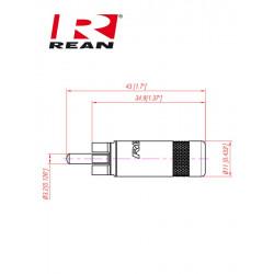 Pozłacany wtyk RCA REAN / Neutrik NYS 352BG