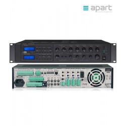 Niskonapięciowy wzmacniacz miksujący 6-strefowy z AM/FM/MP3/USB/SD APART Audio MA247MR 100V