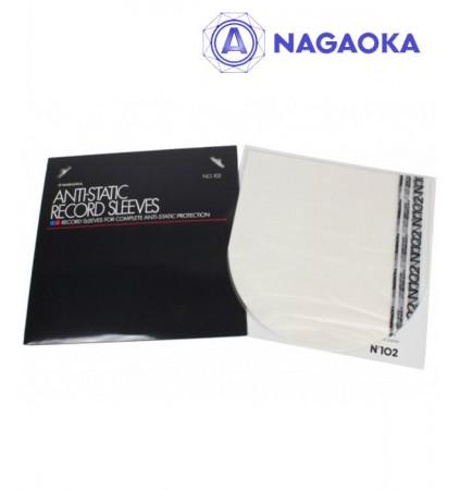 Nagaoka 102 - Antystatyczne koperty wewnętrzne do winyli 50 szt.