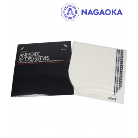 Nagaoka 102 - Antystatyczne koperty wewnętrzne do winyli 10 szt.