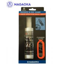 NAGAOKA STAT-10 zestaw antystatyczny płyn do płyt gramofonowych – 120ml + chusteczka