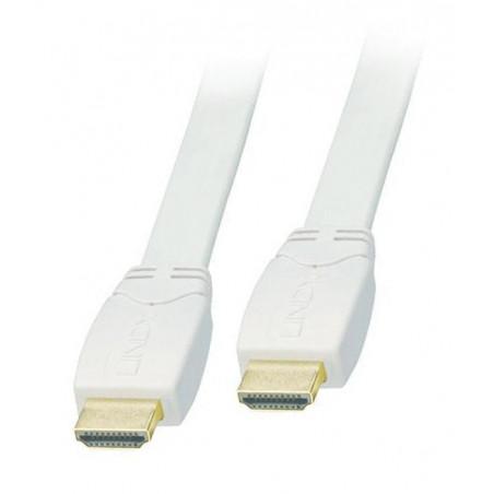 Kabel HDMI biały płaski FullHD Lindy 41160 0.5m
