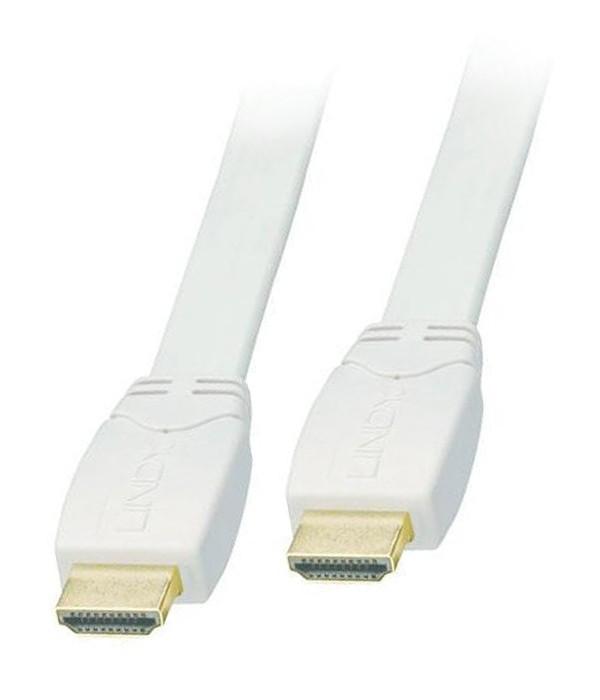 Lindy CROMO 0.5m Kabel HDMI 2.0 biały płaski