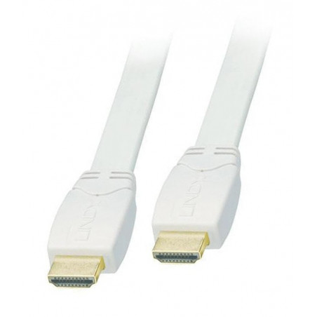 Kabel HDMI biały płaski FullHD Lindy 41161 1m