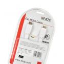 Lindy CROMO 2m Kabel HDMI 2.0 biały płaski