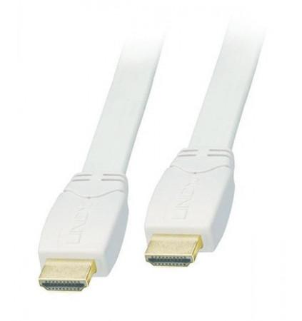 Lindy CROMO 7.5m Kabel HDMI 2.0 biały płaski