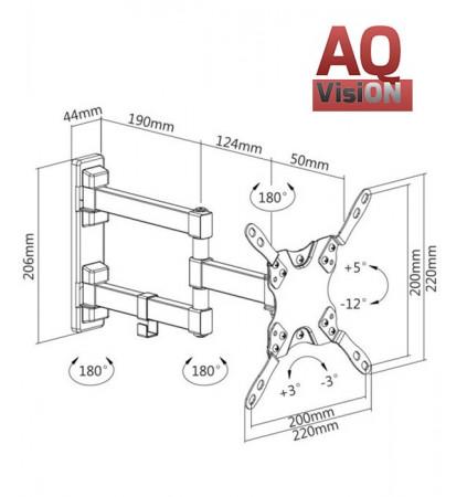 """AQ VisiON BR22AM - Uchwyt ścienny obrotowy 13"""" - 42"""""""