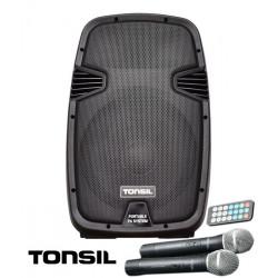 Tonsil ZP 12 - zestaw przenośny 500W Bluetooth, FM, USB, SD + pilot, 2 mikrofony