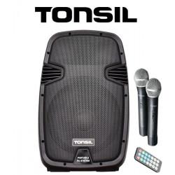 Tonsil ZP 15 - zestaw przenośny 700W Bluetooth, FM, USB, SD + pilot, 2 mikrofony