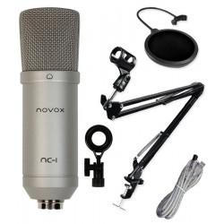 Uchwyt statyw + studyjny POP filtr PS1 + mikrofon NOVOX NC-1