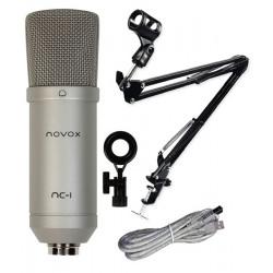 Mikrofon NOVOX NC-1 + uchwyt statyw mikrofonowy