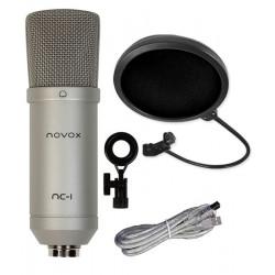 Mikrofon NOVOX NC-1 + pop filtr mikrofonowy PS1