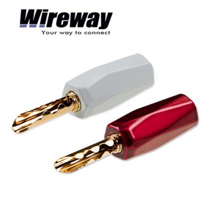 Wtyk bananowy głośnikowy Wireway WW420704 - para