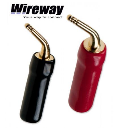 Wtyk głośnikowy kątowy typu szpilka Wireway WW420702 - para