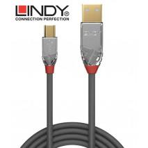 Lindy 36631 Kabel USB 2.0 A - mini-B Cromo Line - 1m