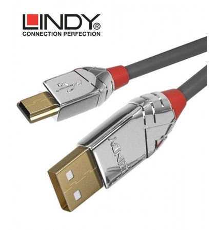 Lindy 36631 Kabel USB 2.0 A - mini-B Cromo Line - 1m