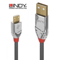 Lindy 36653 Kabel USB 2.0 A - micro USB B Cromo Line - 3m