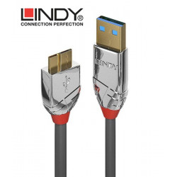 Lindy 36656 Kabel USB 3.0 A - micro USB B Cromo Line – 0.5m