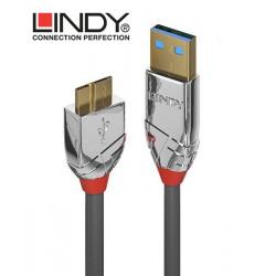 Lindy 36659 Kabel USB 3.0 A - micro USB B Cromo Line – 3m