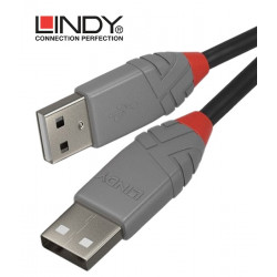 Lindy 36690 kabel USB 2.0 A – A Anthra Line - 0.2 m