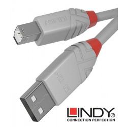 Lindy 36680 kabel USB 2.0 A – B Anthra Line szary - 0.2 m