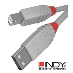 Lindy 36682 kabel USB 2.0 A – B Anthra Line szary - 1 m