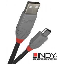 Lindy 36723 kabel USB 2.0 A – mini USB B Anthra Line  - 2 m