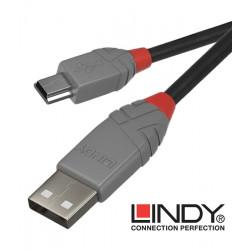 Lindy 36725 kabel USB 2.0 A – mini USB B Anthra Line  - 5 m