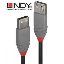 Lindy 36704 przedłużacz USB A 2.0 Anthra Line - 3 m
