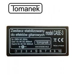 Tomanek Case-3 - Zasilacz 9V DC do efektów gitarowych