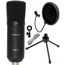 Mikrofon NOVOX NC-1 + POP filtr + stojak Superlux DS01