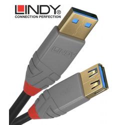 Lindy 36761 - Przedłużacz USB 3.0 A - A Anthra Line – 1m