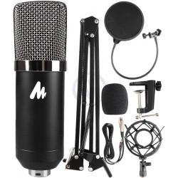 Mikrofon Maono XLR + statyw + POP filtr + kosz antywibracyjny
