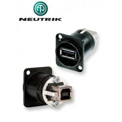 Gniazdo panelowe panel USB A-B Neutrik NAUSB-W-B