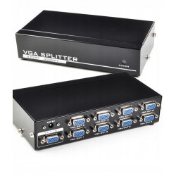 Splitter rozgałęźnik HD VGA (D-sub) 1 IN - 4 OUT