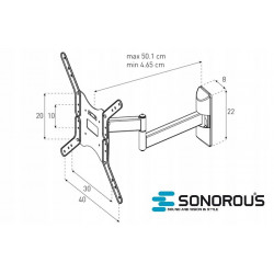 Uchwyt regulowany do telewizora Sonorous Surefix SF 521