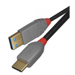 Lindy Anthra Line 36885 - Kabel USB 2.0 A - C - 0,5m