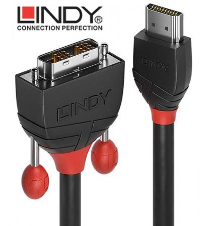 Lindy Black Line 36271 - Kabel HDMI - DVI-D