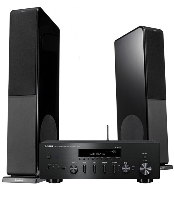 Zestaw stereo 2.0 - Audio Pro AVANTO FS 20 + Yamaha R-N602