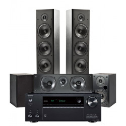 Zestaw kina domowego Polk Audio T15 + T30 + T50 + amplituner Onkyo TX-NR686