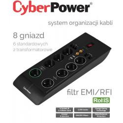 Listwa zasilająca 8 gniazd 2.4m CyberPower SB0801PRG-FR