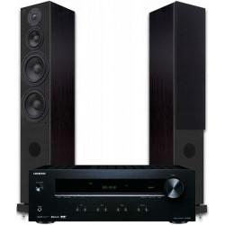 Zestaw stereo 2.0 - STX F-200ns + amplituner Onkyo TX-8220