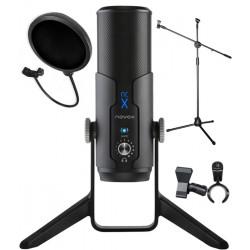 Mikrofon Novox NC-X + statyw podłogowy + POP filtr