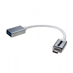 Kabel micro USB - gniazdo USB 3.0 Wireway WW331501 - 10cm