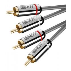 Lindy Cromo Line 35349 – Kabel 2x RCA - 2x RCA - 10m