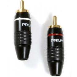 Prium PRRCA – Pozłacany wtyk RCA 1 sztuka