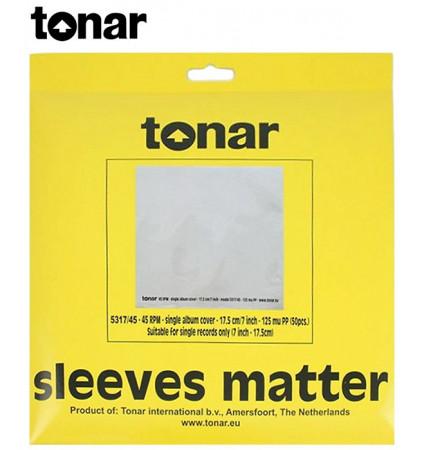 """Zewnętrzne koperty do płyt LP 7"""" marki Tonar (5317) - 50 sztuk"""