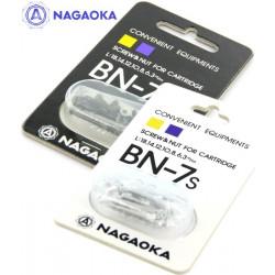 Nagaoka BN-7B – Komplet śrubek do mocowania wkładek