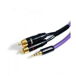 Melodika MDMJ2R10 Kabel Jack 3.5mm - 2 RCA 1m